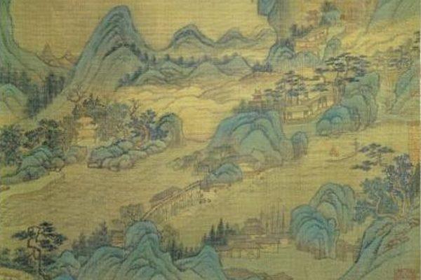 镇江是长江下游地区的重要的港口城市,图为清朝王翚《长江万里图》,现藏台北故宫博物院。(公有领域)