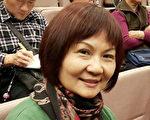 新竹县客家理事长邱桂美看了神韵感受美好,把先生也带来观赏。(苏惜巧/大纪元)