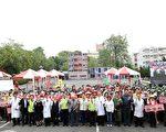 嘉义市地震大量伤患医疗救护演练。(嘉义市政府提供)