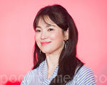 韓星宋慧喬2月23日在台北出席美妝記者會。(陳柏州/大紀元)