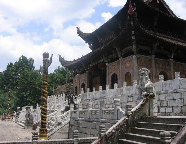 藏有金地藏肉身的九华山肉身宝殿(维基百科公有领域)