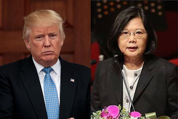 美國新總統川普(特朗普)上任前,曾與台灣總統蔡英文通電話。(大紀元合成圖)