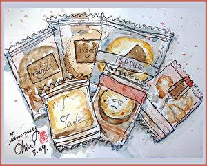 淡彩速写 / 西式喜饼(图片来源:作者 邱荣蓉 提供)