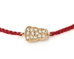 金熊嵌寶禧紅手繩(Plain Motif Bracelet,$170)。 (Zazen Bear 提供)