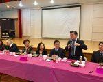 台湾会馆老人中心一二月庆生会,多位民代、官员出席祝贺。 (林丹/大纪元)