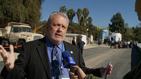 聖蓋博流域水資源管理處主任Tony Zampiello。(楊陽/大紀元)