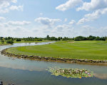 Gernsheim鎮的高爾夫球場看上去好像是風景區。(Golf Absolute聚樂部網站提供)