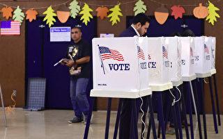 """川普上任后,强调""""选民欺诈""""的危害性,甚至上升到维护民主体制的高度。因此,目前在美国,犯下""""选民欺诈罪"""",判得很重。(FREDERIC J. BROWN/AFP/Getty Images)"""