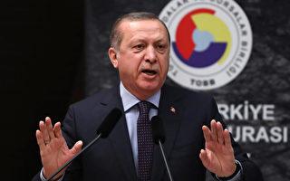 2017年2月7日,土耳其總統埃爾多安與美國新上任總統川普首次通話,商討聯合打擊伊斯蘭國的問題。 (ADEM ALTAN/AFP/Getty Images)