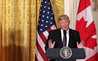 13日,美國總統川普表示,朝鮮是一個很大的大問題,美國將以「非常強硬」的態度對待朝鮮。(Photo by Alex Wong/Getty Images)