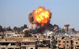 美国务院周五(5日)回应称,俄禁止美战机飞行的提议不能限制美国执行打击IS的任务。 (Photo credit should read MOHAMAD ABAZEED/AFP/Getty Images)