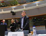 1月20日,欧元区各国财政部长在布鲁塞尔开会,商讨希腊债务纾困问题。图中是希腊财政部长察卡洛托斯(Euclid Tsakalotos)。(JOHN THYS/AFP/Getty Images)