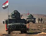 周四(23),在美国领导联军空袭的支持下,伊拉克安全部队从IS手中重新收复了摩苏尔国际机场。(Photo credit should read AHMAD AL-RUBAYE/AFP/Getty Images)
