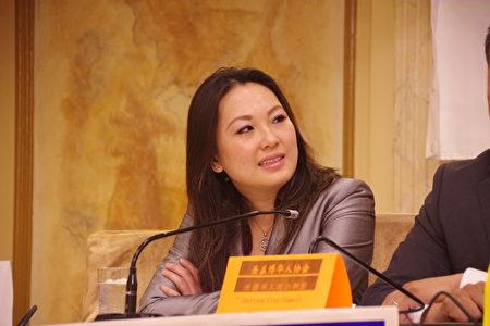 圣盖博市府书记候选人Julie Ngyuen。(刘菲/大纪元)
