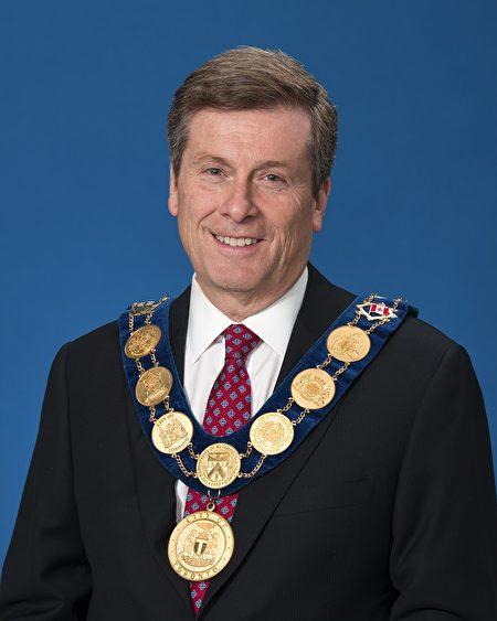 多伦多市长John Tory。(官方图片)