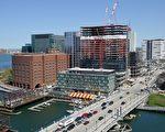 波士頓Evelyn Moakley橋附近街景。(維基百科公有領域)