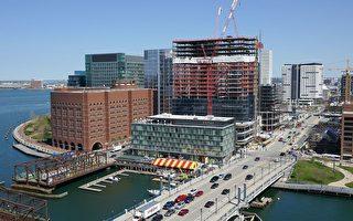 波士顿Evelyn Moakley桥附近街景。(维基百科公有领域)