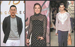 2017年2月英国伦敦时装周上的设计师和模特。(大纪元合成图片)
