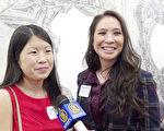 亚裔校友社区共同主席Catherine Rowntree(左)与Francine Di(右)。(新唐人图片)