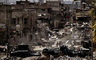 2017年3月7日摩蘇爾市,伊拉克軍隊與伊斯蘭國(IS)武裝分子的戰鬥正在繼續。伊拉克軍收復了摩蘇爾主要政府大樓及博物館,在收復西區的戰鬥中取得穩步進展。(AFP PHOTO / ARIS MESSINIS)