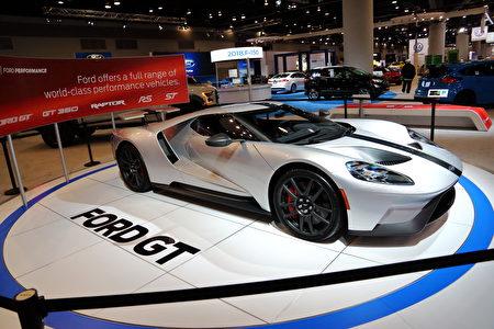 图:Ford展出超跑Ford GT。(李奥/大纪元)