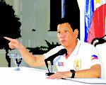菲律宾总统杜特蒂用铁腕手段禁毒,令外界担忧侵犯人权问题,日前遭在野阵营提案弹劾。(AFP)