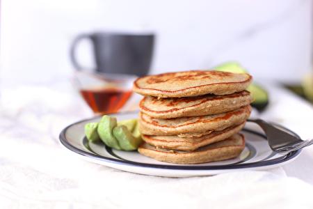 图:难以抗拒的美味松饼。新鲜的牛油果为人体提供丰富的维生素,纤维,矿物质和不饱和脂肪。而香蕉和希腊酸奶可作为蛋白质的丰富来源,让你一天都充满活力。(图片由Avocados from Mexico提供)
