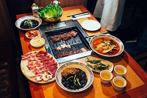 伦敦韩国裕美餐馆香喷喷的韩式烤肉(肖龙/大纪元)
