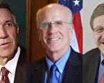佛州州长Philip B. Scott(左)、佛蒙特州国会众议员Peter Welch(中)、佛蒙特州州务卿James C. Condos(右)。(大纪元合成图)