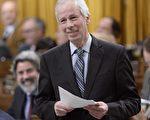 1月31日,加拿大聯邦前外交部長狄翁在下院的告別聲明中表示將出任駐歐洲及德國外交官。(加通社)