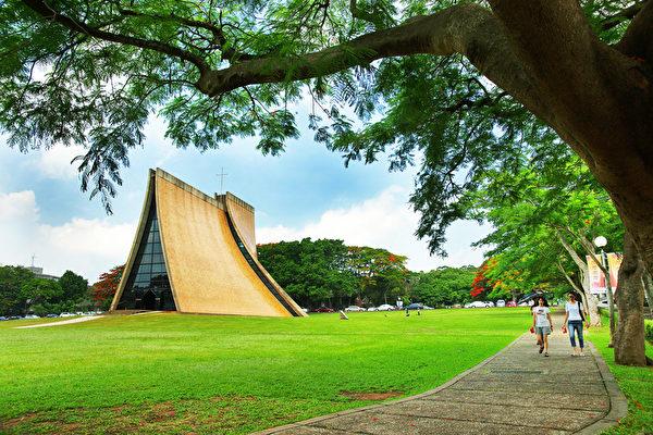 东海大学校园,路思义教堂。(龚安妮/大纪元)