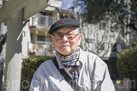潘木枝長子潘英超,已經88歲但還很健談。(曹景哲/大紀元)