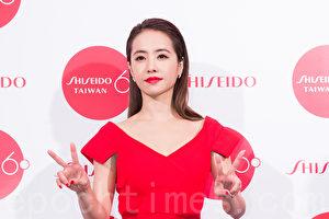 艺人蔡依林3月8日在台北出席美妆活动。(陈柏州/大纪元)