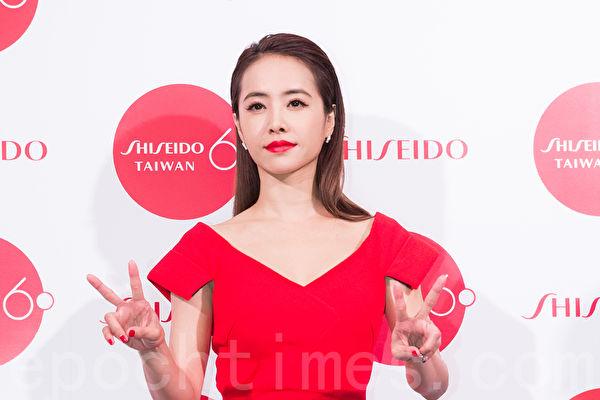 藝人蔡依林3月8日在台北出席美妝活動。(陳柏州/大紀元)