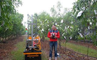 國立屏東科技大學生物機電系研發遙控式農用噴藥車,不需用人力背負噴藥桶,不但可解決人體曝露在農藥環境問題,也可解決農村缺工問題。(屏科大提供)