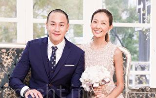 艺人何润东(Peter)和妻子林静仪(Peggy)3月10日在台北拍摄结婚周年照。(陈柏州/大纪元)