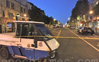 持槍嫌犯占據公寓,舊金山警方封鎖了在16和17街之間的Valencia Street。(大紀元)