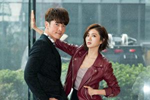 楊一展(左)、蔡黃汝(豆花妹)搭檔主演的週日偶像劇《我的愛情不平凡》即將上檔。(台視、三立提供)