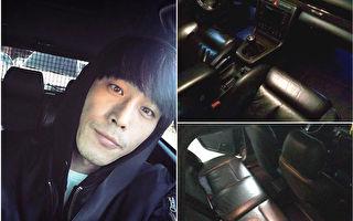黄腾浩每周固定保养一次爱车,老车保养如新车一般。(客家台/大纪元合成)