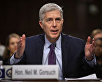 美国大法官提名人尼尔·戈萨奇3月23日完成确认听证会。参议院共和党领袖们表示,将采取一切必要的手段,让戈萨奇的提名通过。(Chip Somodevilla/Getty Images)