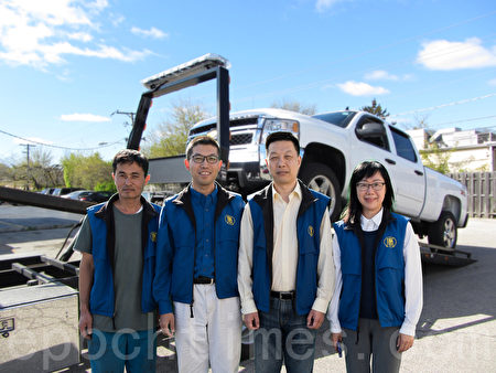 湾区捐车新唐人团队。(大纪元)