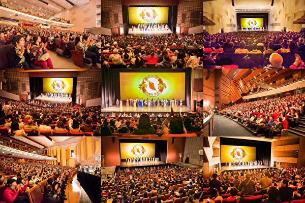 来自美国的神韵艺术团,今年是第11度来台巡演,2/15至3/21在七大城市完成37场演出,缔造35场爆满票房,超过五万人次入场观赏,再次成为台湾今年艺文团体演出的票房冠军。(大纪元合成图)