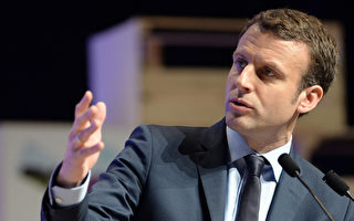 """法国新总统马克龙上任不到一个月,他的""""共和国前进运动""""能否在立会选举中获得绝对多数?这将在本周日和下周日的两轮国民议会选举中见分晓。图为3月30日,马克宏在FNSEA大会上发表演讲。(FRED TANNEAU/AFP)"""