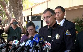 波莫納警局局長卡普拉洛(Paul Capraro)宣布殺害8歲華童的歹徒已被逮捕。(李子文/大紀元)