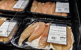 受巴西黑心肉风暴影响,本港多间超市、食肆都宣布暂停供应巴西肉类。图为本港一超级市场出售的巴西鸡肉。(NTHONY WALLACE/AFP/Getty Images)