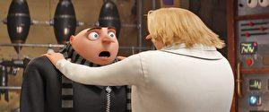 《神偷奶爸3》(Despicable Me 3)劇照。格魯發現自己的雙胞胎兄弟德魯樣樣比自己優秀。(UIP提供)