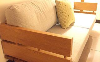 皇冠台灣檜木家具舊料新作,融入生活。(皇冠家具提供)