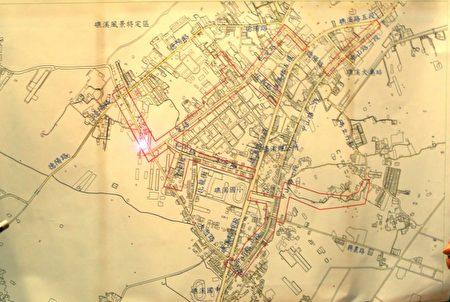 礁溪乡市区供水管网改善区域示意图。(曾汉东/大纪元)
