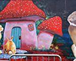 台中市南屯區文山北巷內12幅大型生肖壁畫,預料不久後會有大批民眾湧入打卡、拍照。(黃玉燕/大紀元)