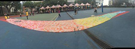 25米长鲤鱼旗。(头城镇公所提供)